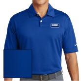 Nike Dri Fit Royal Pebble Texture Sport Shirt-Standard Logo