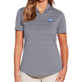 Ladies Callaway Horizontal Textured Steel Grey Polo-Standard Logo