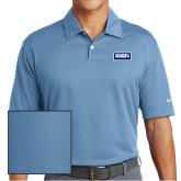 Nike Dri Fit Light Blue Pebble Texture Sport Shirt-Standard Logo