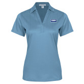 Ladies Light Blue Performance Fine Jacquard Polo-Standard Logo