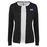 Ladies Black Cardigan-Standard Logo