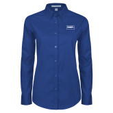 Ladies Royal Twill Button Down Long Sleeve-Standard Logo