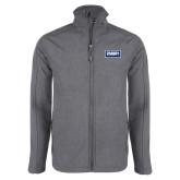 Grey Heather Softshell Jacket-Standard Logo
