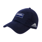 Adidas Navy Slouch Unstructured Low Profile Hat-Standard Logo