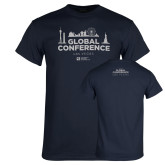 Navy Global Conference Softstyle T Shirt-