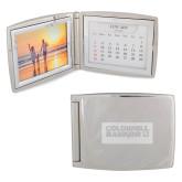 Silver Bifold Frame w/Calendar-Standard Logo Engraved