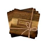 Acacia Wood Coaster Set-Standard Logo Engraved
