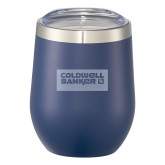 Corzo Vacuum Insulated Navy Cup 12oz-Standard Logo Engraved