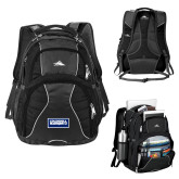 High Sierra Swerve Black Compu Backpack-Standard Logo
