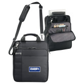 Kenneth Cole Black Vertical Checkpoint Friendly Messenger-Standard Logo