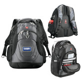 Wenger Swiss Army Tech Charcoal Compu Backpack-Standard Logo