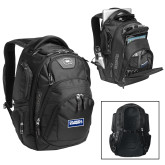 Ogio Stratagem Black Backpack-Standard Logo