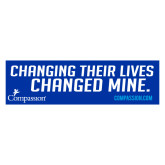 Compassion International Bumper Sticker-Changing their Lives Changed Mine