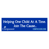 Compassion International Bumper Sticker-Helping One Child At A Time