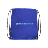 Nylon Royal Drawstring Backpack-Compassion Love