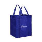 Non Woven Royal Grocery Tote-w/Tag Line