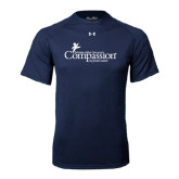Under Armour Navy Tech Tee-w/Tag Line