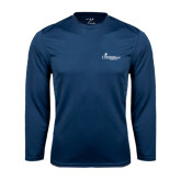 Syntrel Performance Navy Longsleeve Shirt-w/Tag Line
