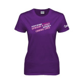 Ladies Purple T Shirt-Join the Fight to End Extreme Poverty