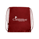 Nylon Cardinal Drawstring Backpack-w/Tag Line