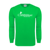 Kelly Green Long Sleeve T Shirt-w/Tag Line