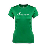 Ladies Syntrel Performance Kelly Green Tee-w/Tag Line