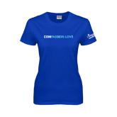 Ladies Royal T Shirt-Compassion Love
