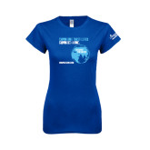 Next Level Ladies SoftStyle Junior Fitted Royal Tee-Changing Their Lives Changed Mine