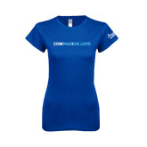 Next Level Ladies SoftStyle Junior Fitted Royal Tee-Compassion Love