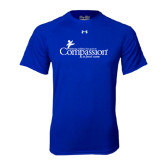 Under Armour Royal Tech Tee-w/Tag Line