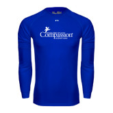 Under Armour Royal Long Sleeve Tech Tee-w/Tag Line