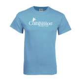 Light Blue T-Shirt-w/Tag Line