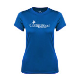 Ladies Syntrel Performance Royal Tee-w/Tag Line