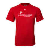 Under Armour Red Tech Tee-w/Tag Line