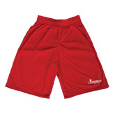 Midcourt Performance Red 9 Inch Game Short-w/Tag Line