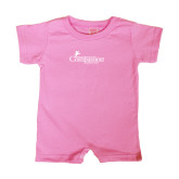 Bubble Gum Pink Infant Romper-w/Tag Line