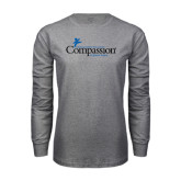 Grey Long Sleeve T Shirt-w/Tag Line