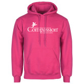Fuchsia Fleece Hood-w/Tag Line