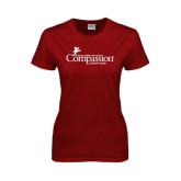 Ladies Cardinal T Shirt-w/Tag Line