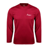 Syntrel Performance Cardinal Longsleeve Shirt-w/Tag Line
