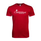 Next Level SoftStyle Cardinal T Shirt-w/Tag Line