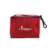 Six Pack Red Cooler-w/Tag Line