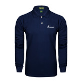 Navy Long Sleeve Polo-