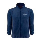Fleece Full Zip Navy Jacket-