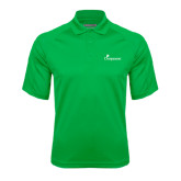 Kelly Green Textured Saddle Shoulder Polo-