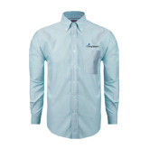 Mens Light Blue Oxford Long Sleeve Shirt-