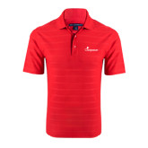 Red Horizontal Textured Polo-