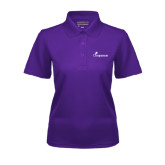 Ladies Purple Dry Mesh Polo-