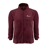 Fleece Full Zip Maroon Jacket-