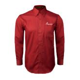 Cardinal Twill Button Down Long Sleeve-